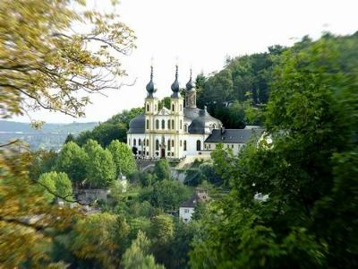 würzburg, franken, Käppele, Wallfahrtskirche, Nikolausberg, radreisen, radweg, main