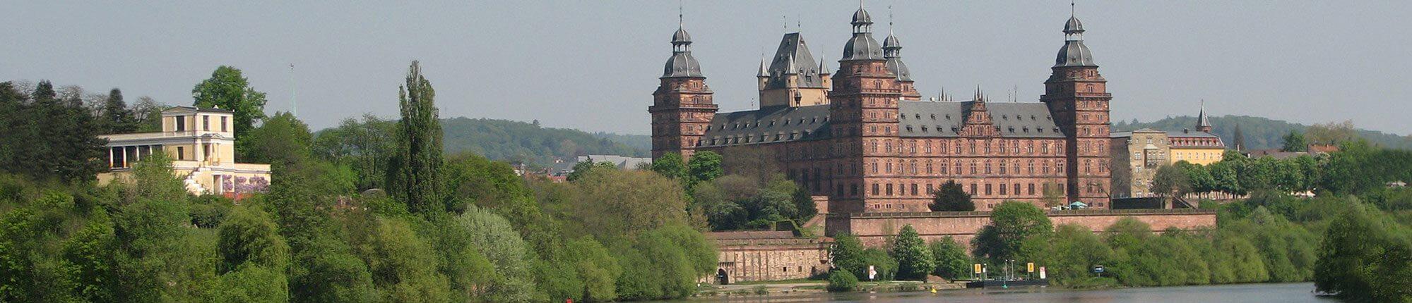 Schloss Johannisburg, Aschaffenburg, Main, Rhein-Main, Unterfranken, Main Radweg